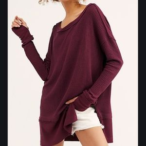 WE THE FREE FIG NORTH SHORE THERMAL TUNIC TOP NEW